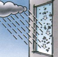 und von Regenwasser abgespült